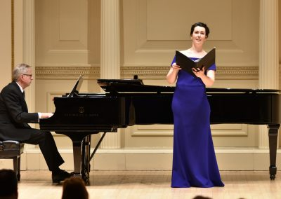 With Veronica Pollicino in Weill Hall for the Oratorio Society of NY Competition Finals
