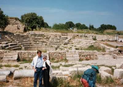 Mom and me at the theater in Ephesus