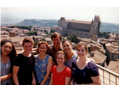 With Susan Ormont's students in Orvieto, Italy